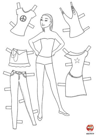 Activité : Mannequin 2. Imprime ce mannequin gratuitement sur TFou.fr. A toi de créer le look idéal en changeant autant de fois que tu le veux les couleurs des vêtements et accessoires. Tu peux même te servir du gabarit pour créer tes propres tenues !