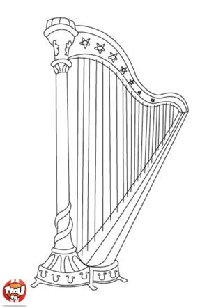 Coloriage: Harpe