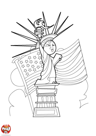 Coloriage: Statue de la liberté