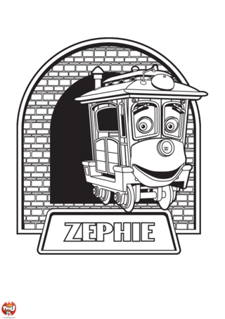 Coloriage: Zephie