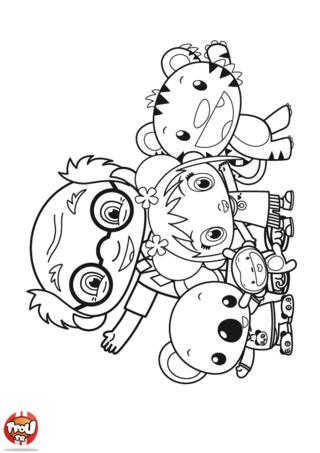 Coloriage: Kai-Lan et ses amis