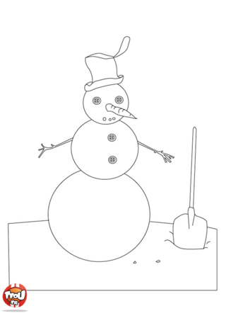 Durant les vacances de février, les enfants font des bonhommes de neige. Regarde comme il est bien réalisé. Imprime ce coloriage d'hiver sur TFou.fr.
