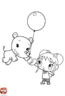 Kai-Lan et un ballon