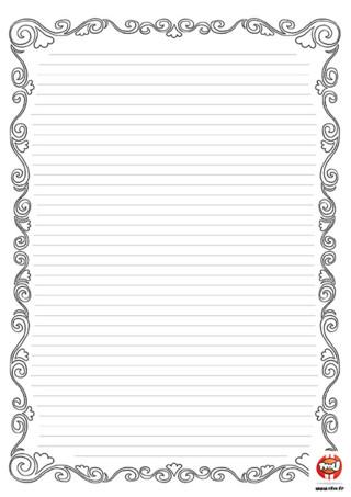 Activité : Papier à lettre. Imprime ce joli papier à lettre pour écrire des lettres à tes amis ou juste pour l'ajouter à ta collection.