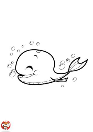 Coloriage: Baleine heureuse