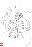 Infirmière en promenade