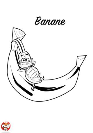 Coloriage: Banane
