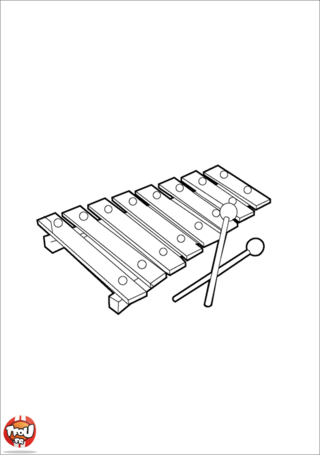 Coloriage: Xylophone