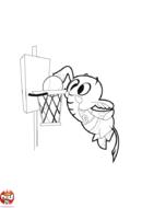 Eléphant qui joue au basket