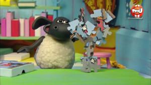 le puzzle saute en l'air de Timmy