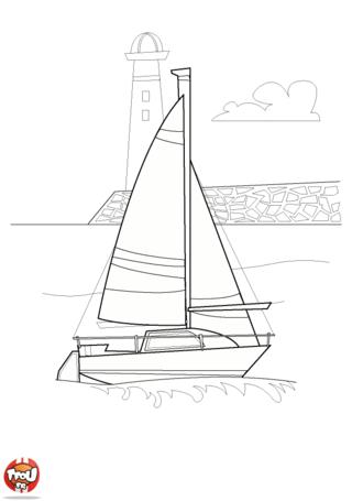 Coloriage: Petit voilier