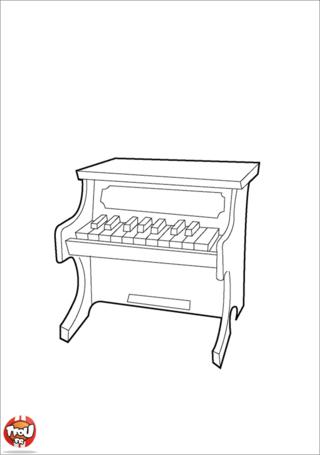 Coloriage: Piano