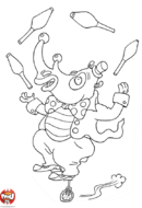 Rhinocéros qui jongle
