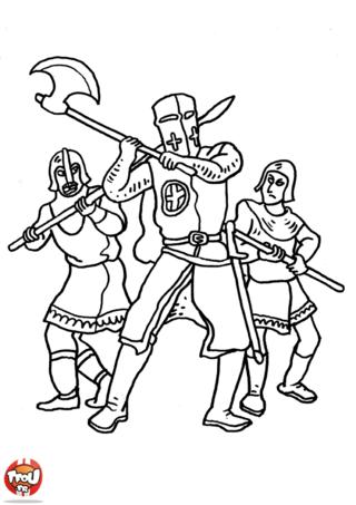 Coloriage: Chevaliers en guerre