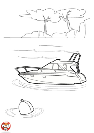 Coloriage: Yacht