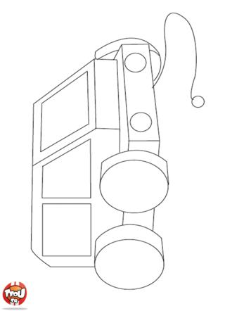 Coloriage: Petite voiture