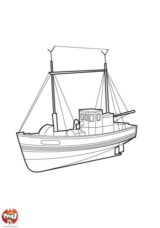 Coloriage: Grand bateau