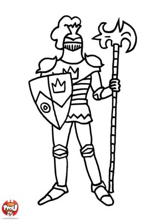 Coloriage: Chevalier en armure