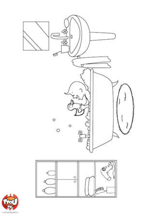 Coloriage: Salle de bains