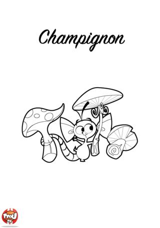 Coloriage: Champignon