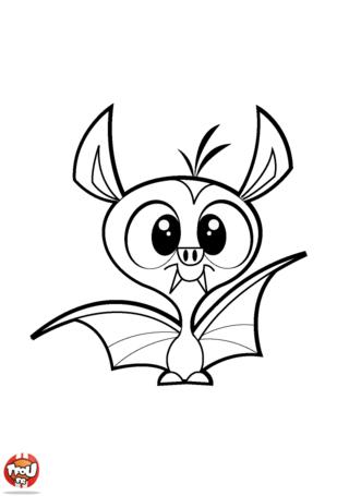 Coloriage: Chauve-souris aux dents pointues
