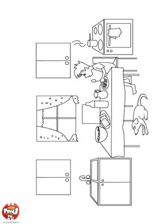 Coloriage: Salle à manger