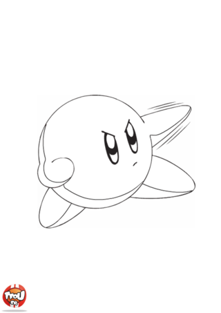 Coloriage: Kirby combat