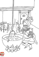 Chevalier qui mange la soupe