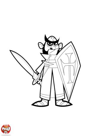 Coloriage: Chevalier dans son armure