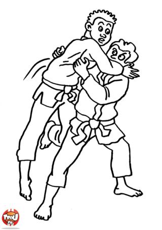Coloriage: Enfants judokas
