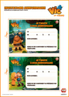 invitation anniversaire vic le viking