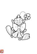 Clown à la fleur