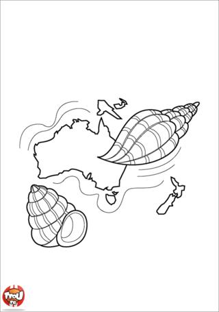 Coloriage: Continent d'Océanie