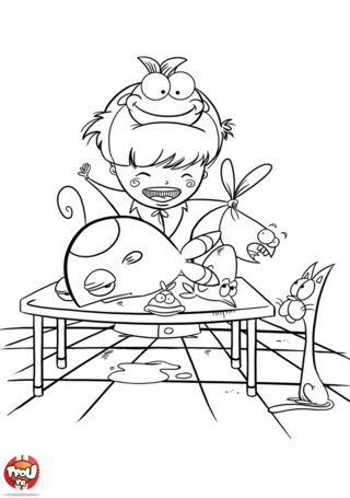 Coloriage: Poissonnier