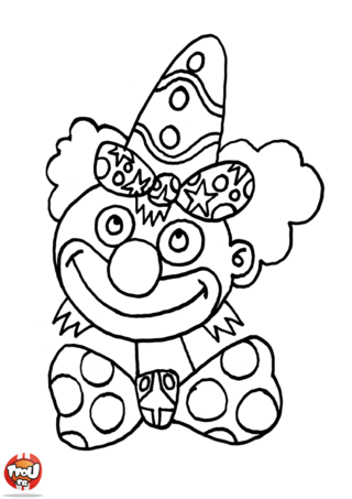 Coloriage: Tête de clown