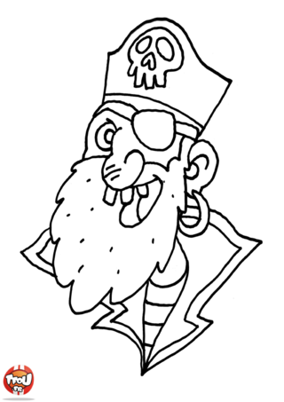 Coloriage: Portrait de pirate