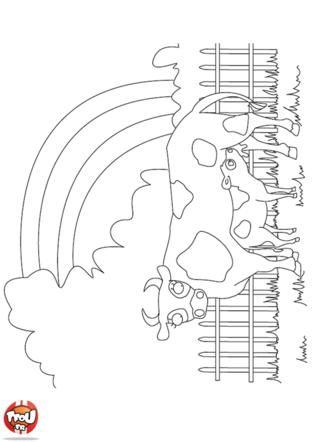 Coloriage: Vache allaitant
