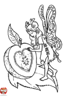 Fée et pomme d'amour