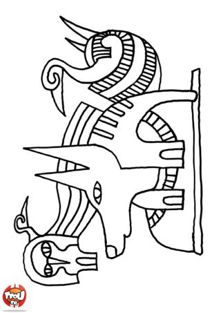 Coloriage: Dessins egyptiens
