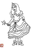 Fée en tenue de bal