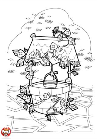 Coloriage : Un tour de crayon de couleurs et ce coloriage Du Lierre sur un puits sera superbe, imprime-le vite, c'est gratuit !