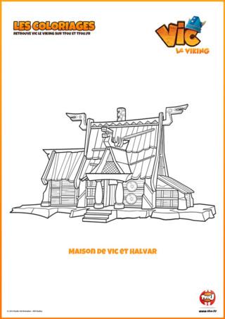 Imprime gratuitement ton coloriage de la maison de Vic et Halvar. Vic est un enfant ingénieux doté d'un côté astucieux ...