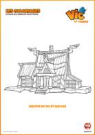 Coloriage_Vic le Viking - maison de vic et halvar