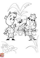 Fleuriste et bouquet