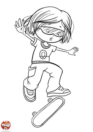 Coloriage: Skateur