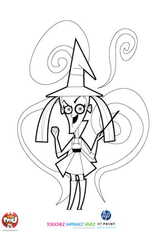 Coloriage: La vilaine sorcière