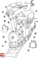 Sur le chemin de fer