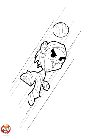 Coloriage: But de handball