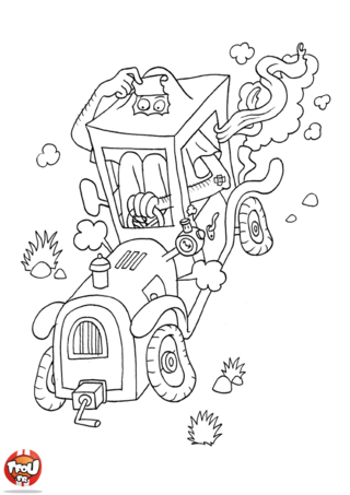 Coloriage: Mini-voiture
