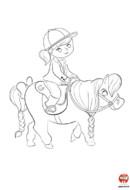 Coloriage-Poney-mon joli poney